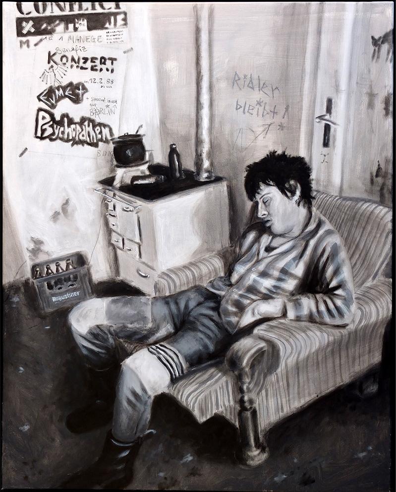 Psychopaten Peter / Acryl auf Leinwand / 80x100 / 2012
