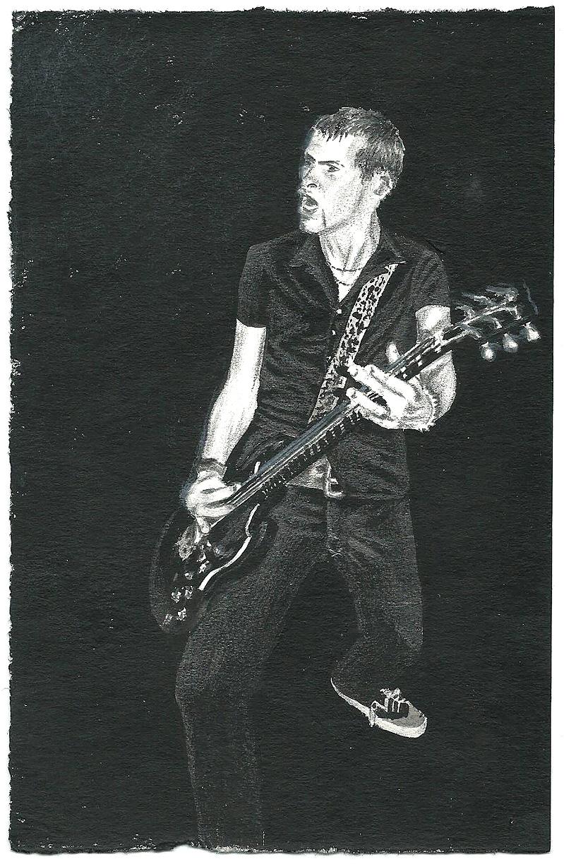 Bonehouse Pete / Acryl + Graphit auf Papier / 10x17 / 2013