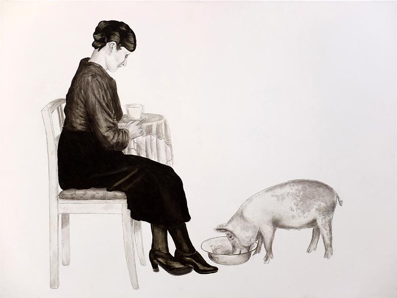 Acryl + Graphit auf Leinwand / 60x80 / 2011