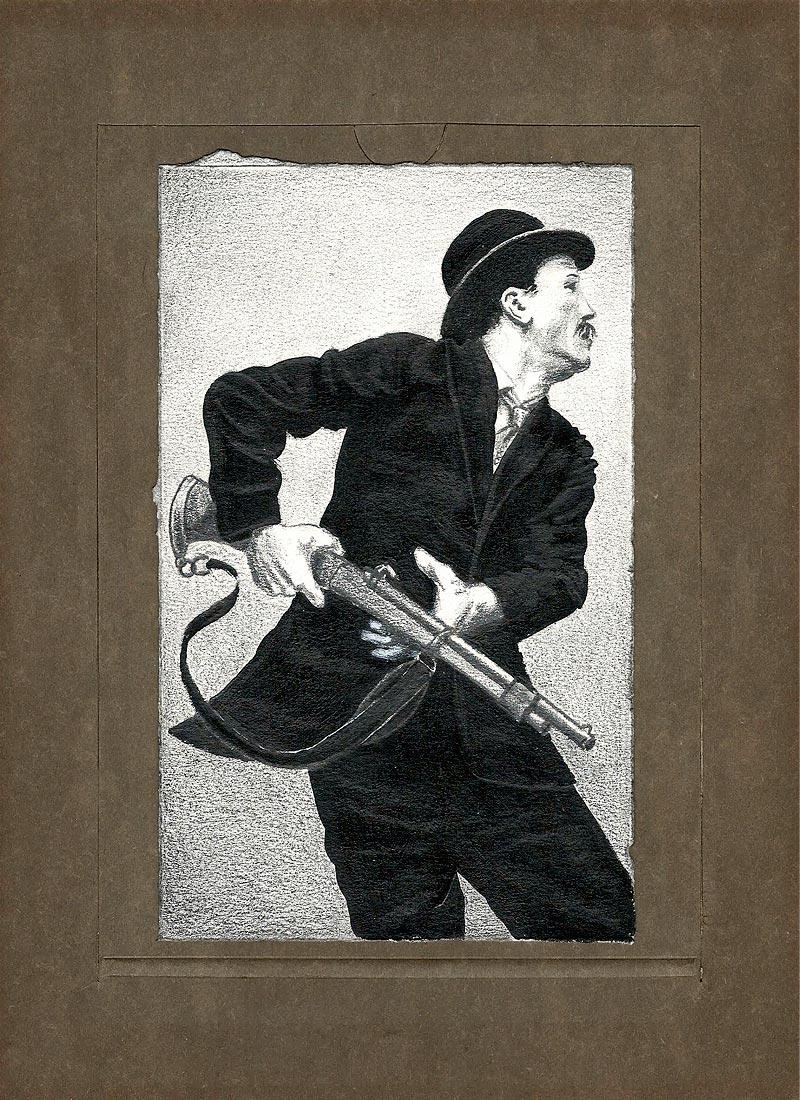 Acryl + Graphit auf Papier / 10x17 / 2011